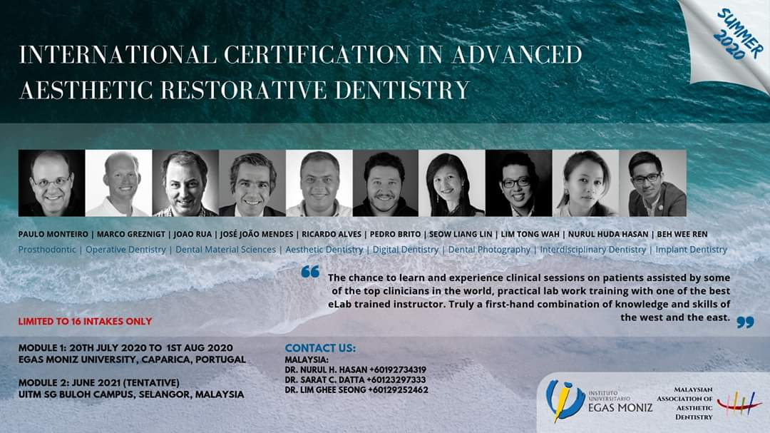 International Certification in Advanced Aesthetic Restorative Dentistry