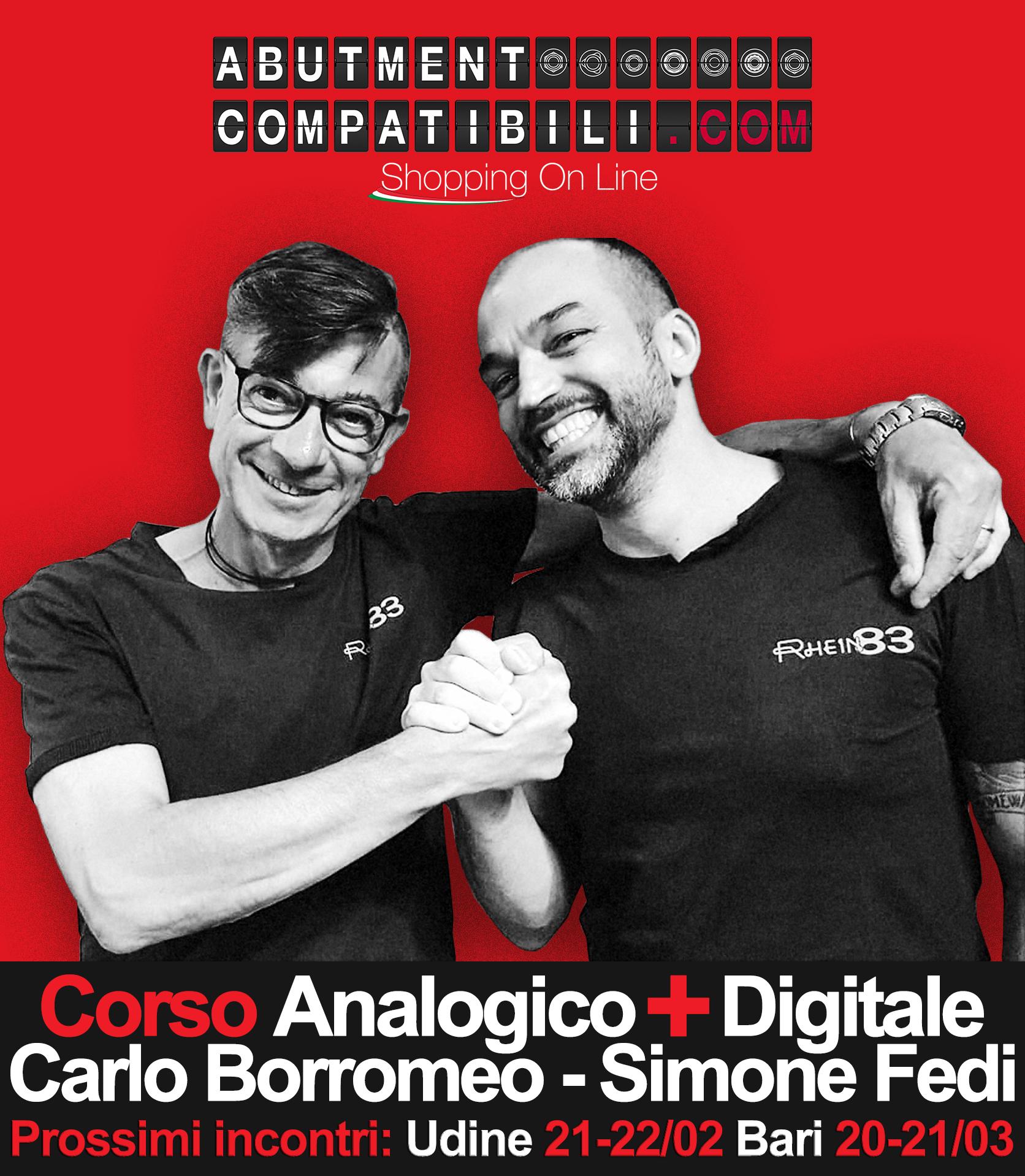 Corso 2 Giorni Analogico + Digitale, Barre Fresate e Controparti