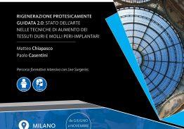 RIGENERAZIONE PROTESICAMENTE GUIDATA 2.0: TECNICHE DI AUMENTO DEI TESSUTI DURI E MOLLI PERI-IMPLANTARI
