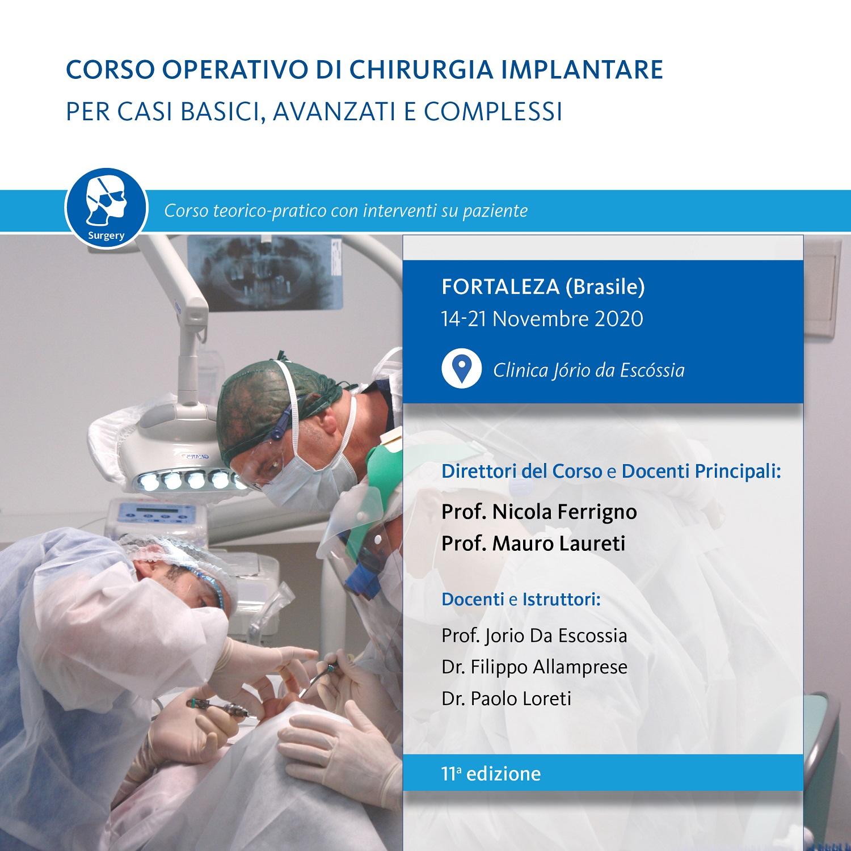 CORSO OPERATIVO DI CHIRURGIA IMPLANTARE PER CASI BASICI, AVANZATI E COMPLESSI