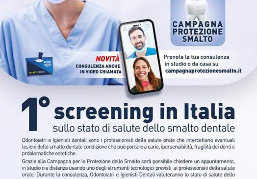 1° Screening in Italia sullo stato di salute dello smalto dentale