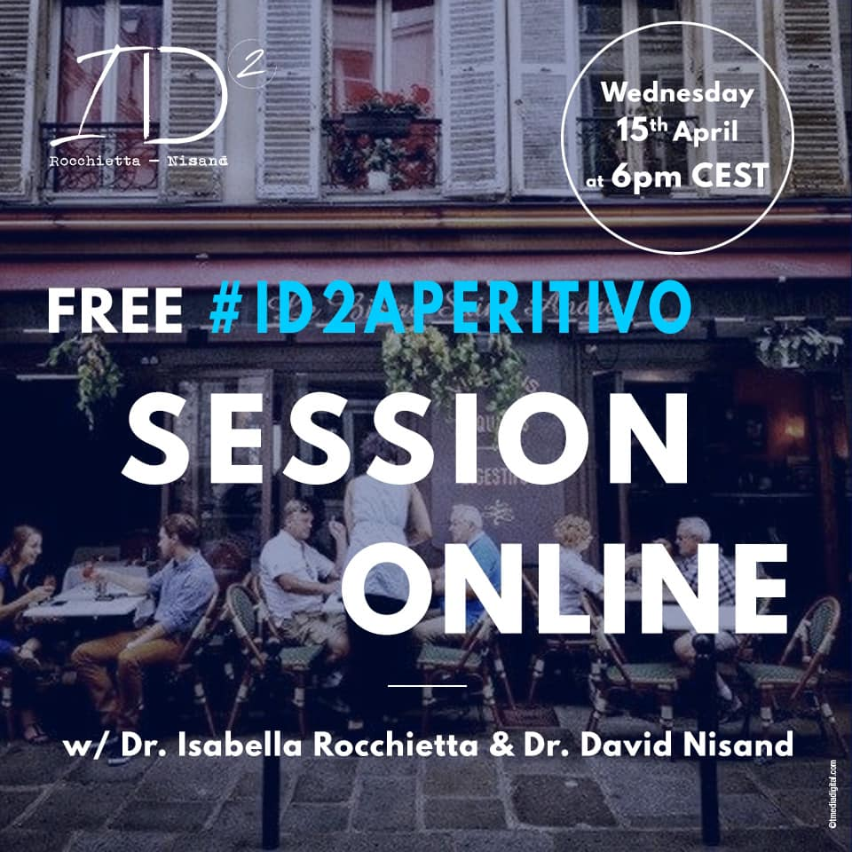 #ID2 Aperitivo Drs. Isabella Rocchietta and David Nisand invite you to join them for a chat on GBR/GTR
