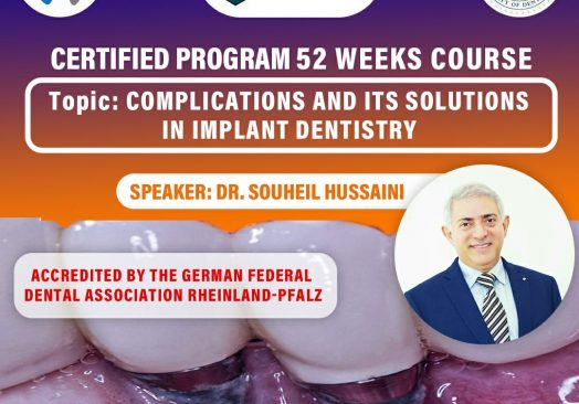 Course on Complications in Implant Dentistry
