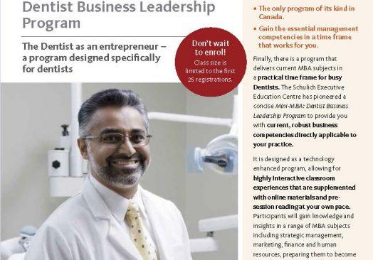 Schulich Dentist Mini-MBA, York University