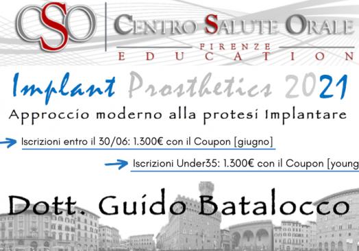 IMPLANT PROSTHETICS 2021 – APPROCCIO MODERNO ALLA PROTESI IMPLANTARE