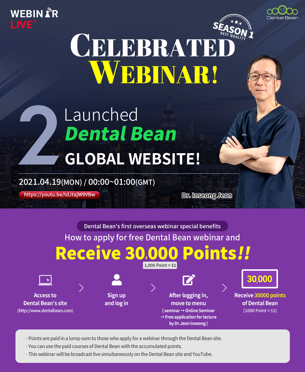 New Launched Dental Bean Global Website! And Celebrated Webinar!